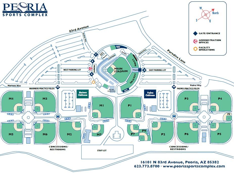 Parking directions peoria sports complex stadiummap2016 complexmap2016 malvernweather Gallery