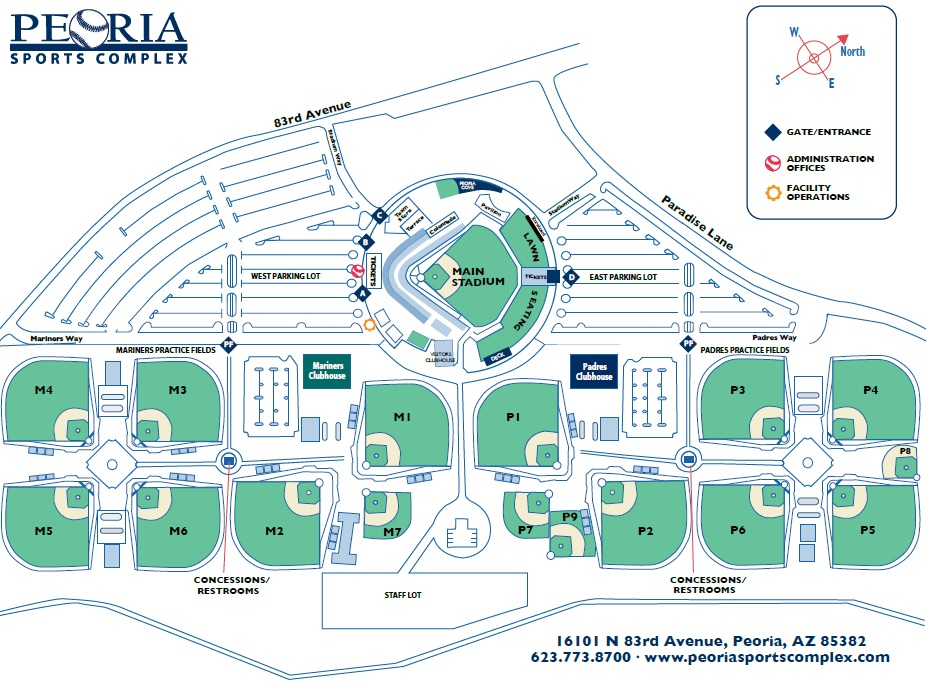 Parking Directions Peoria Sports Complex