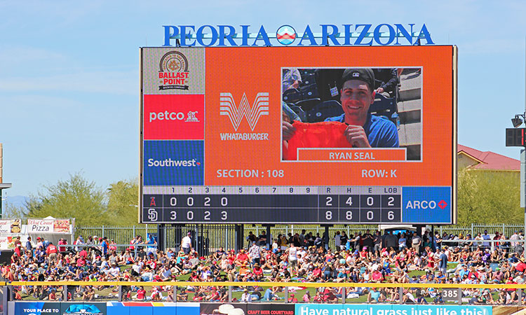 Electronic advertising on our giant video scoreboard